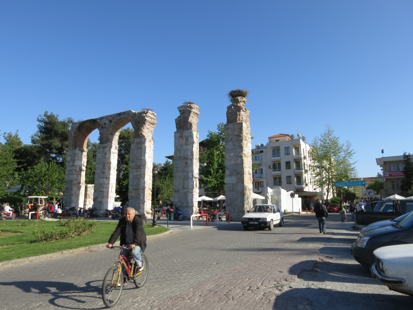 Ancient Roman Aqueduct in Selcuk.