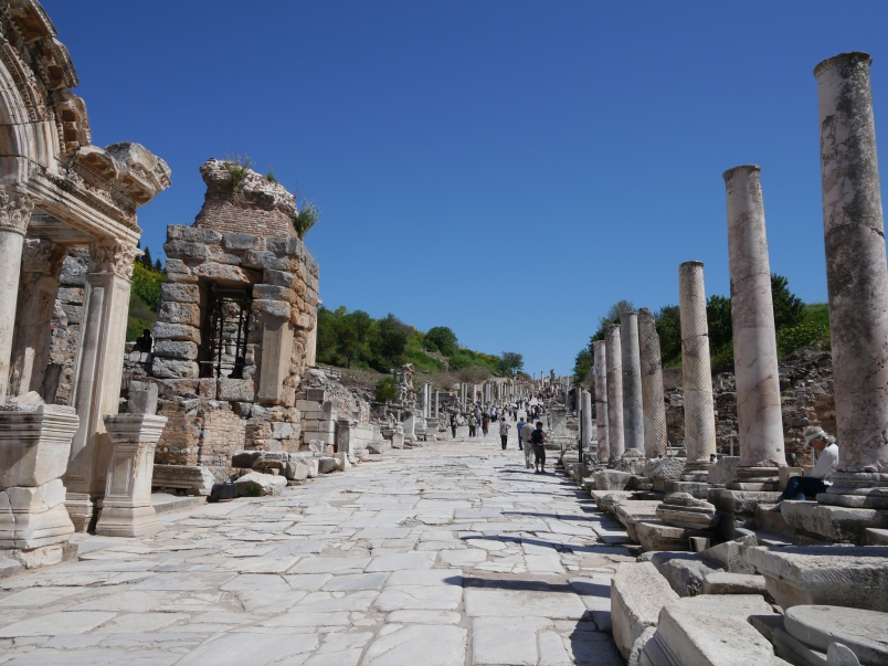 A main thoroughfare in Ephesus.