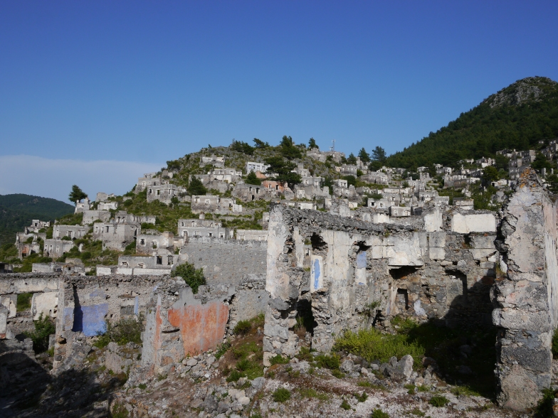 Ghost town of Kayaköy, Turkey.
