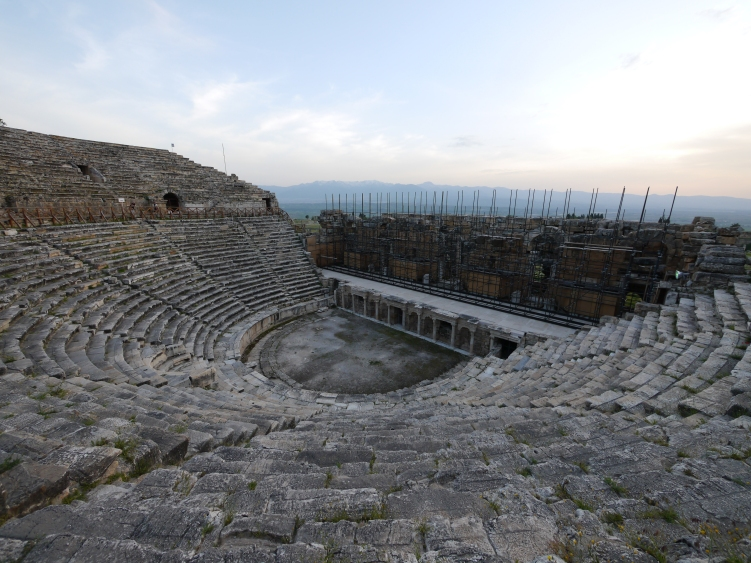Ancient Roman amphitheater at Hierapolis.