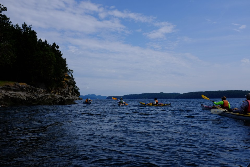 Kayaking in Montague Harbour.